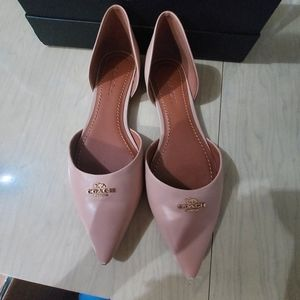 Coach Leather Pointy Flats